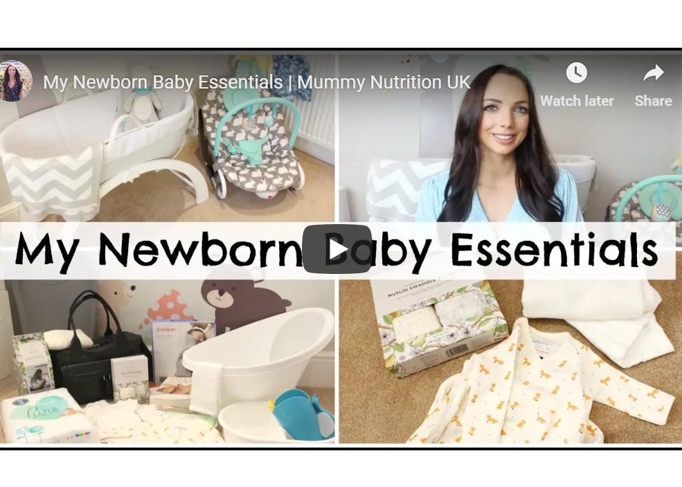 Mummy Nutrition's Newborn Baby Essentials